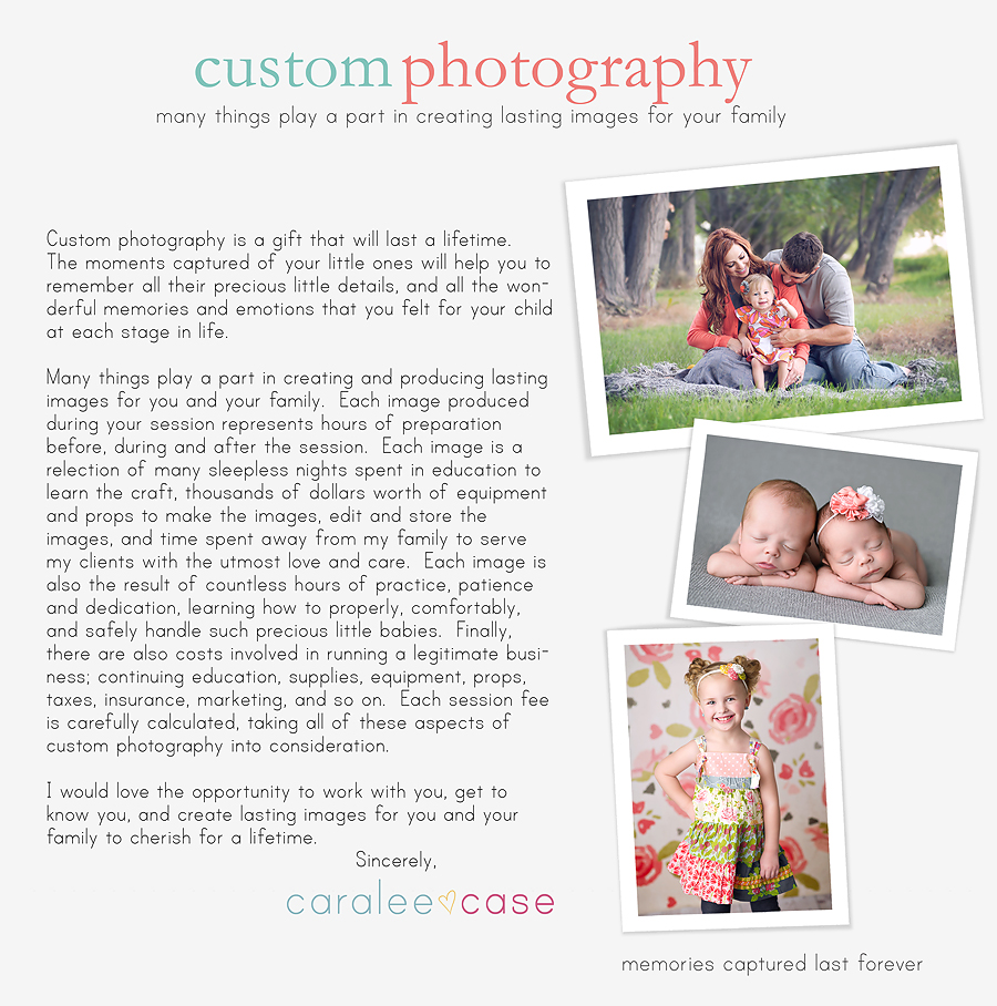 Caralee Case Photography Custom Portrait Photographer Idaho Falls, ID