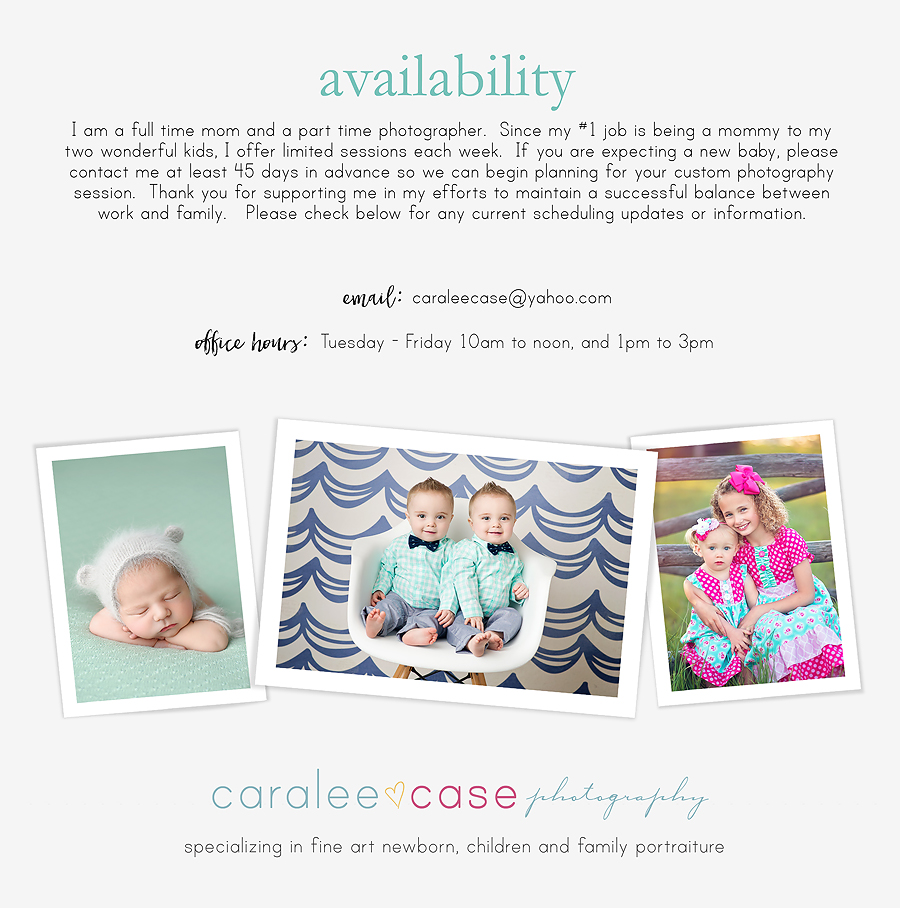 Availability Caralee Case Photography