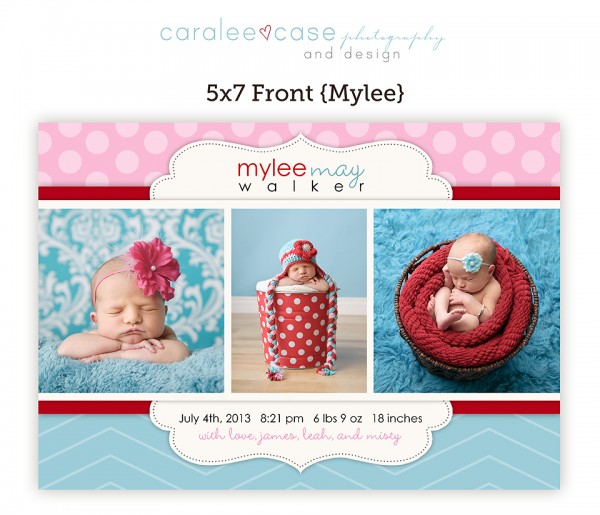 Birth Announcement Mylee