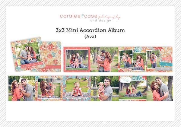 Accordion Mini Album Template Ava Family