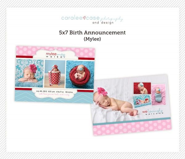 Birth Announcement Template Mylee