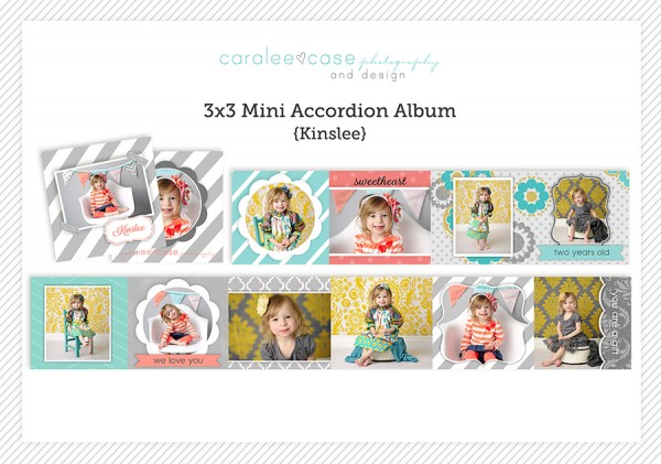 Accordion Mini Album Template Kinslee