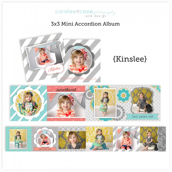 Accordion Mini Album Template Kinslee kg
