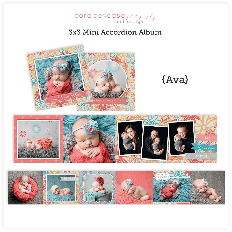 Accordion Mini Album Template Ava lg