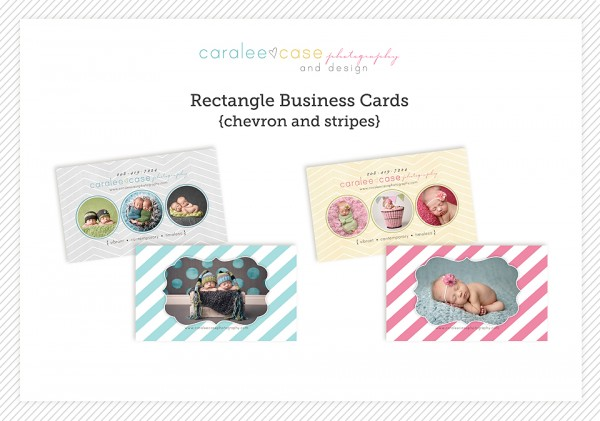 Chevron and Stripes business cards 1