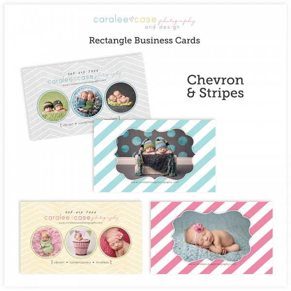 Chevron and Stripes business cards 2