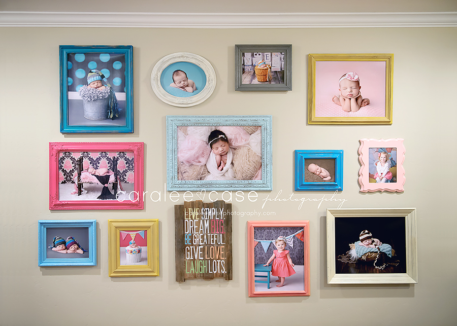 Wall display frames