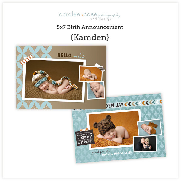 Birth Announcement Cards for Photographers
