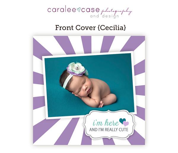 Trifold Birth Announcement {Cecilia} closeup