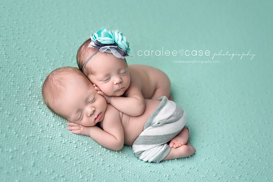 Idaho falls id newborn twin infant baby photographer caralee case photography
