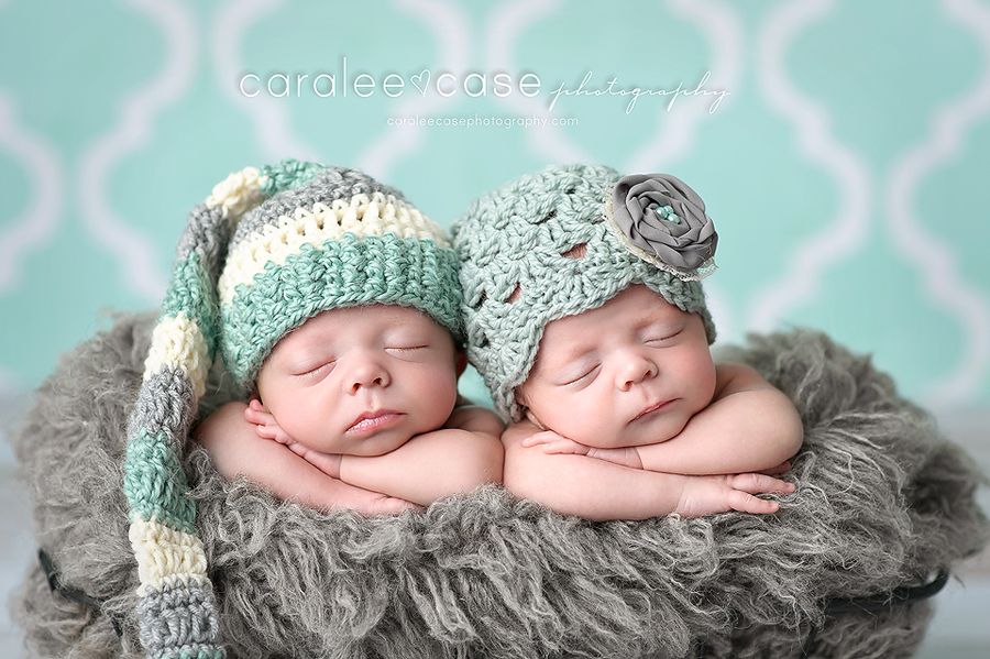 Idaho falls id newborn infant twin baby photographer caralee case photography