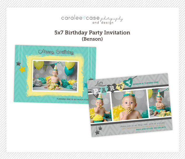 5x7 Benson Party Invite