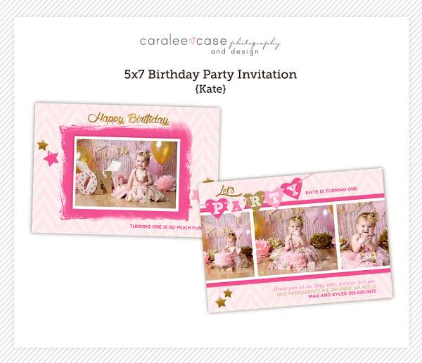 5x7 Kate Party Invitation