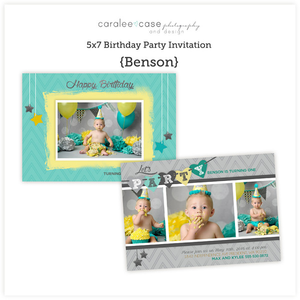 5x7 Benson Party Invite sq