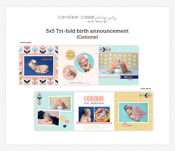 Trifold Corinne