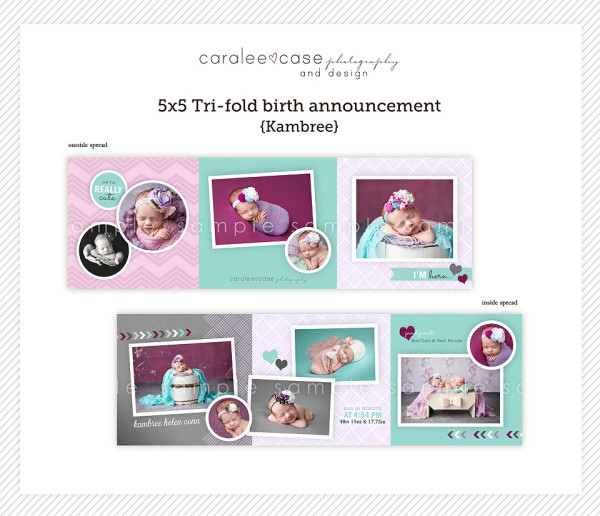 Birth Announcements5 5 Trifold Crew Caralee Case Photography – Tri Fold Birth Announcement