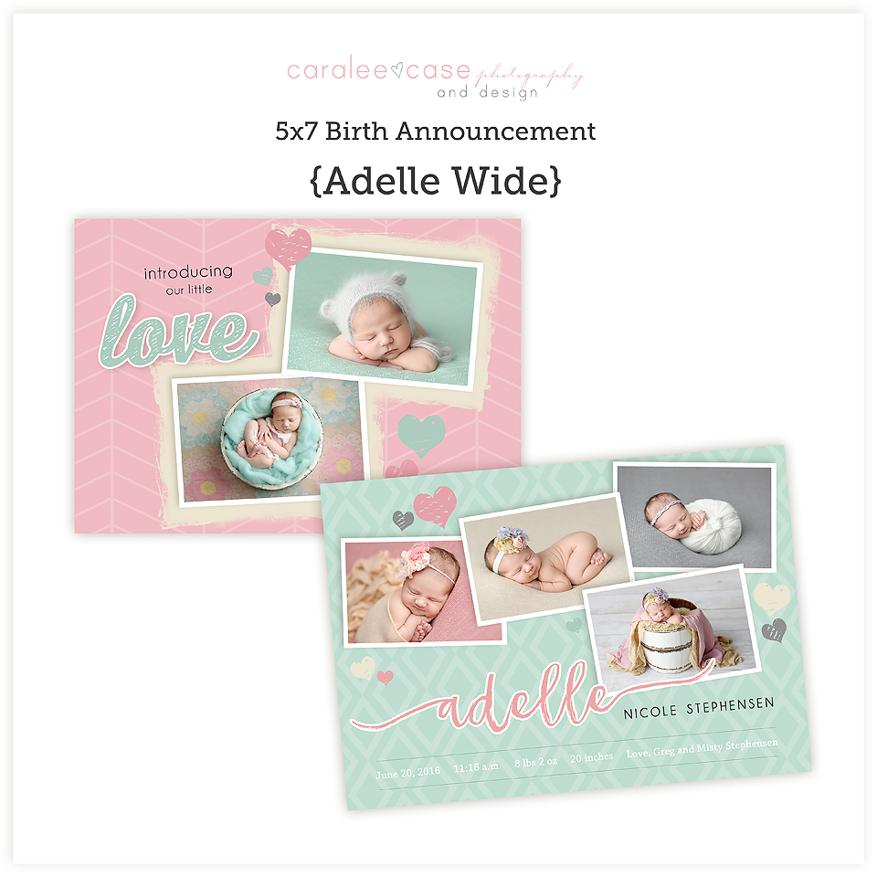 Adelle 5x7 wide sq