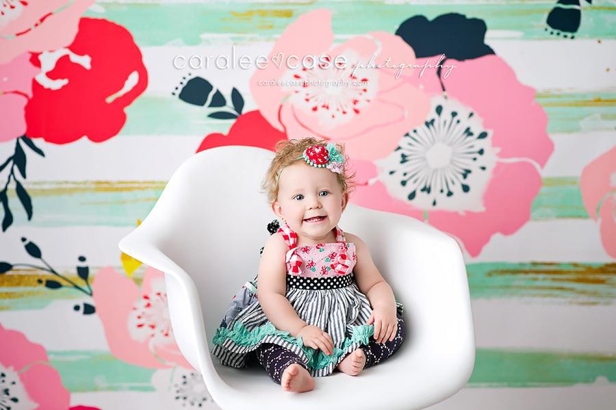 Pocatello, ID Baby Child Birthday Cake Smash Photographer ~ Caralee Case Photography