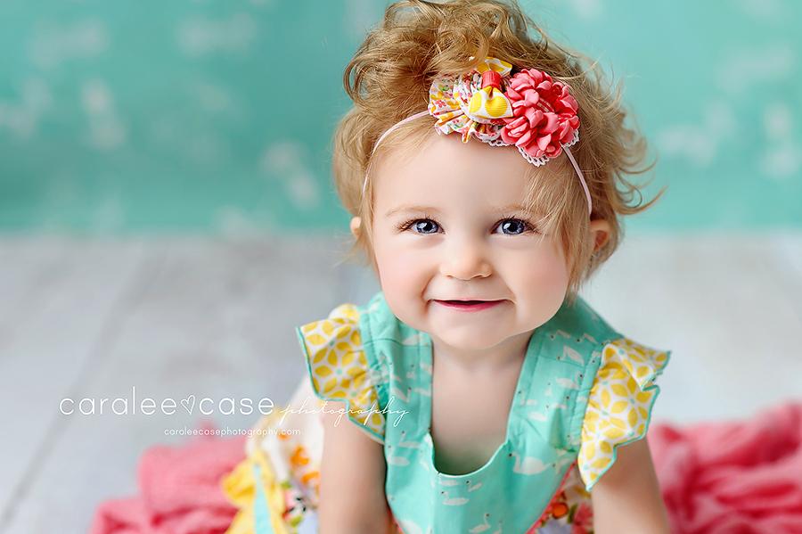 Rexburg, ID Baby Child Birthday Cake smash photographer ~ Caralee Case Photography