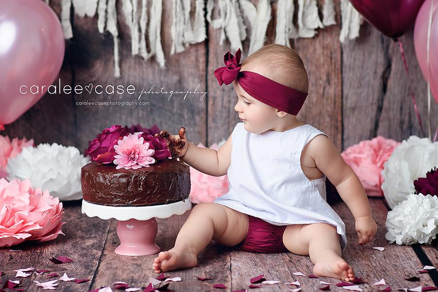 Rigby, ID Baby Child Birthday Cake Smash Photographer ~ Caralee Case Photography