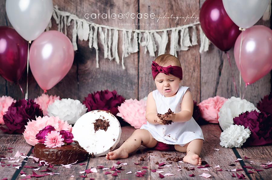 Ririe, ID Baby Child Birthday Cake Smash Photographer ~ Caralee Case Photography