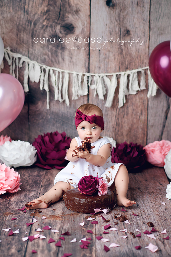 Swan Valley, ID Baby Child Birthday Cake Smash Photographer ~ Caralee Case Photography