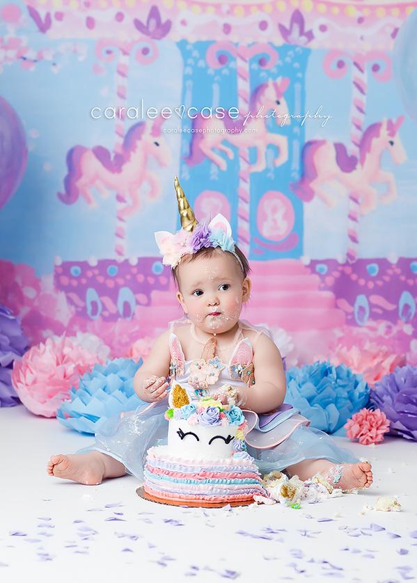Blackfoot Idaho Baby Child Birthday Cake Smash Photographer ~ Caralee Case Photography