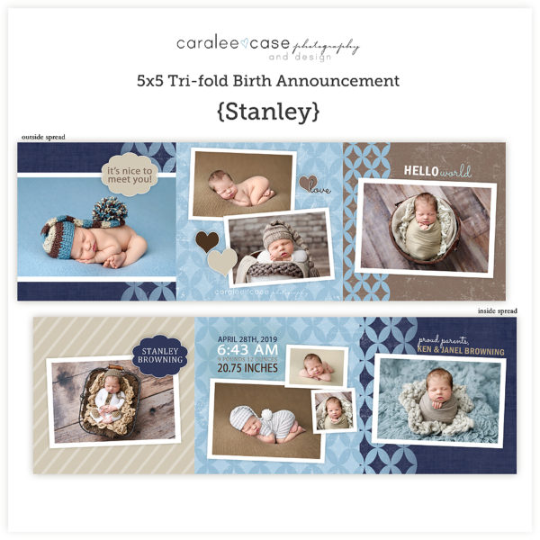 Trifold Card Template Stanley Square