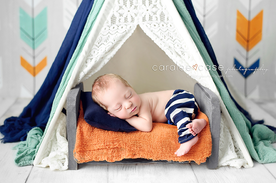 St Anthony Idaho Newborn Infant Baby studio portait Photography ~ Caralee Case Photography