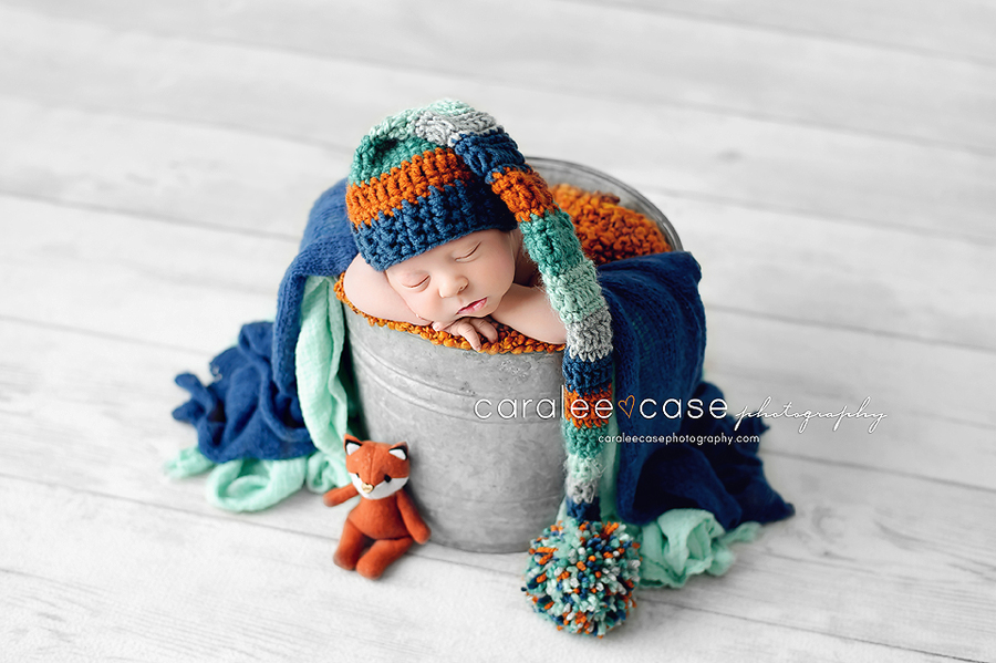 Jackson Hole Wyoming Newborn Infant Baby studio portait Photography ~ Caralee Case Photography