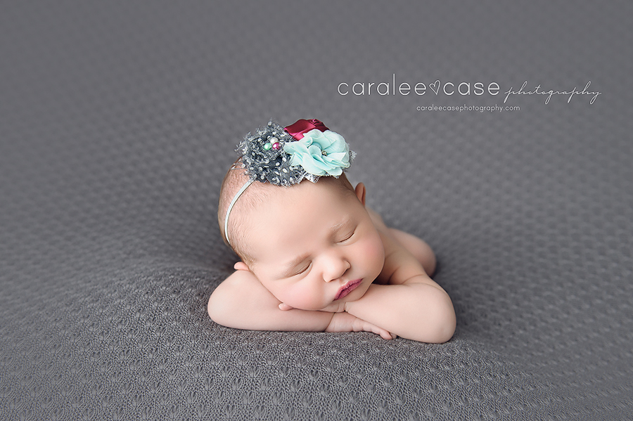 Ammon Idaho newborn infant baby studio portrait photographer ~ Caralee Case Photography