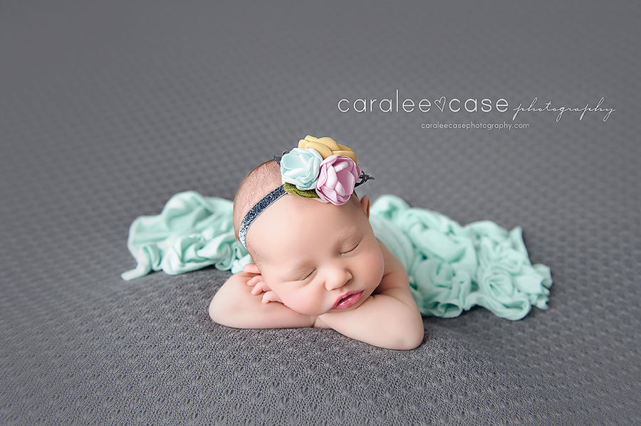 American Falls Idaho newborn infant baby studio portrait photographer ~ Caralee Case Photography