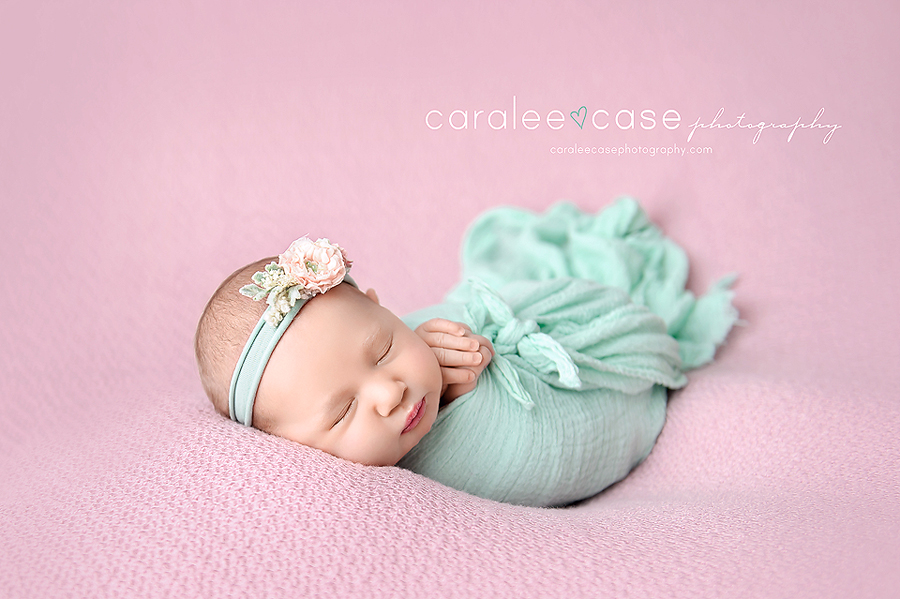 Chubbuck Idaho newborn infant baby studio portrait photographer ~ Caralee Case Photography