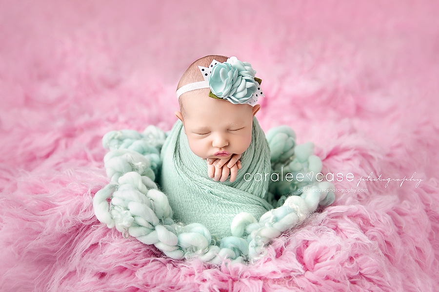 Driggs Idaho newborn infant baby studio portrait photographer ~ Caralee Case Photography