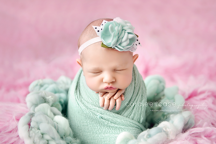 Rigby Idaho newborn infant baby studio portrait photographer ~ Caralee Case Photography