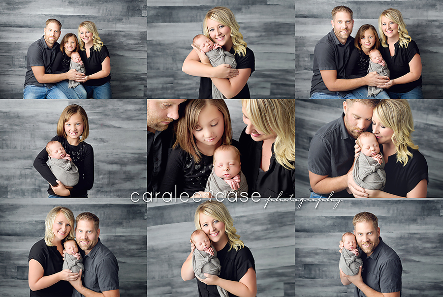 Hyrum Utah Newborn Infant Baby studio portait Photography ~ Caralee Case Photography