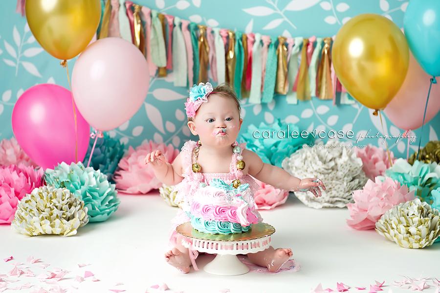 Rigby Idaho Baby Child Birthday Cake Smash Photographer ~ Caralee Case Photography