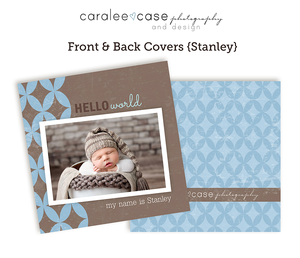Caralee Case Photography Templates Store 3x3 Mini Album Template for photographers