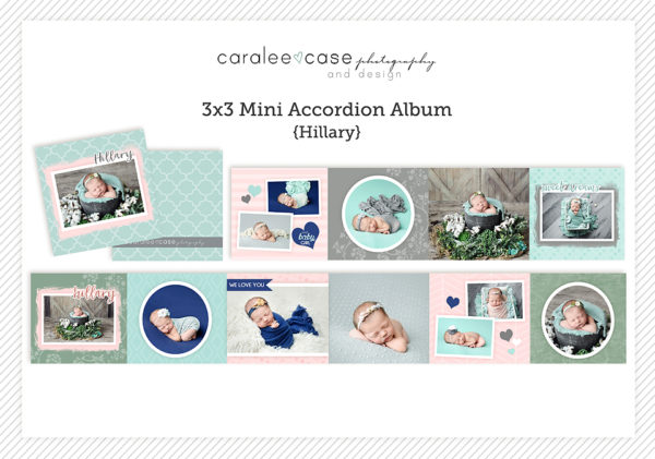 Hillary accordion album template Caralee Case Photography