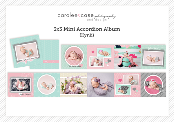 Kynli accordion album template Caralee Case Photography