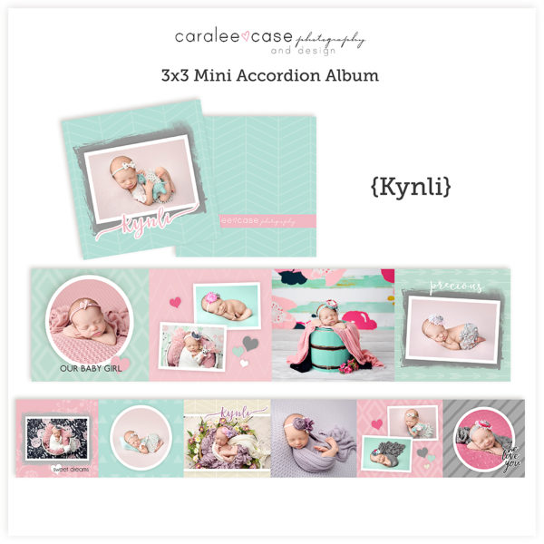 Kynli accordion album template sq Caralee Case Photography