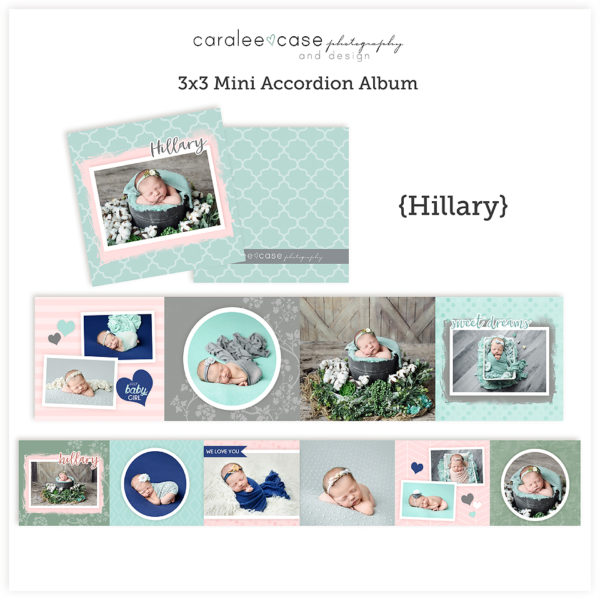Hillary accordion album template sq Caralee Case Photography