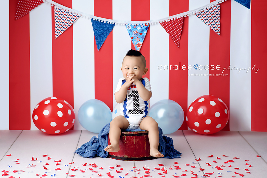 Idaho Falls, ID Child Baby Cake Smash Birthday Studio Photographer ~ Caralee Case Photography