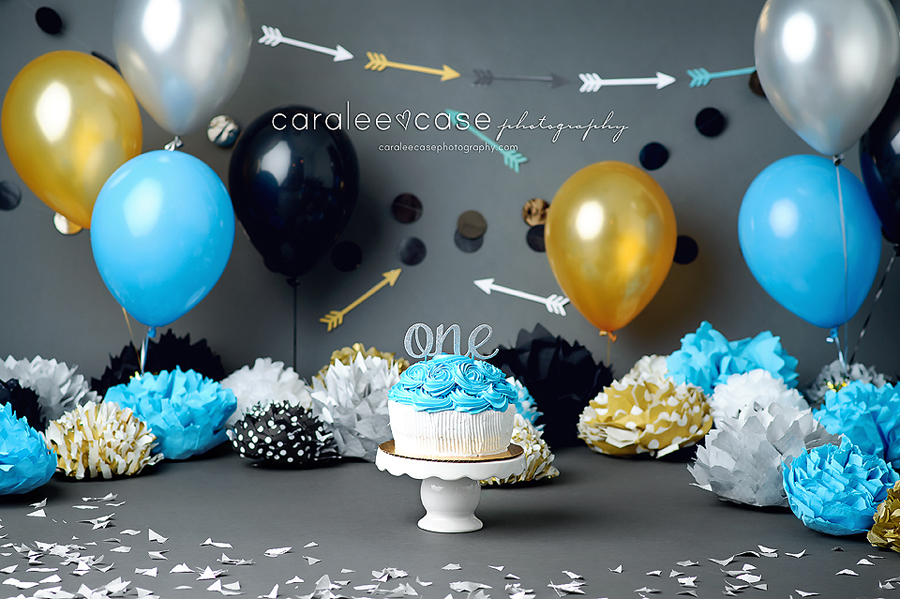 Boise Idaho Child Baby Cake Smash Birthday Studio Photographer ~ Caralee Case Photography