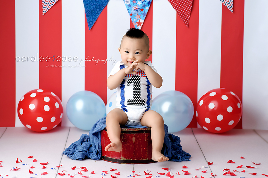 Rigby Idaho Child Baby Cake Smash Birthday Studio Photographer ~ Caralee Case Photography