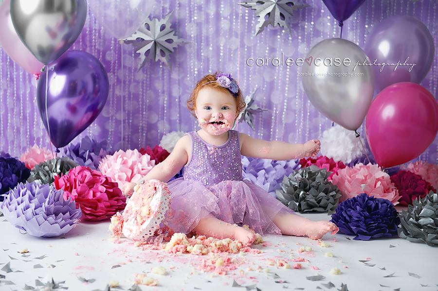 Idaho Falls, ID Child Baby Toddler Birthday Cake Smash Photographer ~ Caralee Case Photography