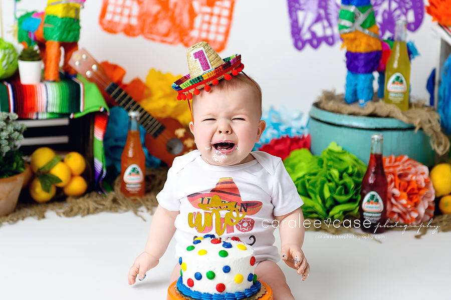 Idaho Falls, ID Toddle Child Baby Birthday Cake Smash Photographer ~ Caralee Case Photography