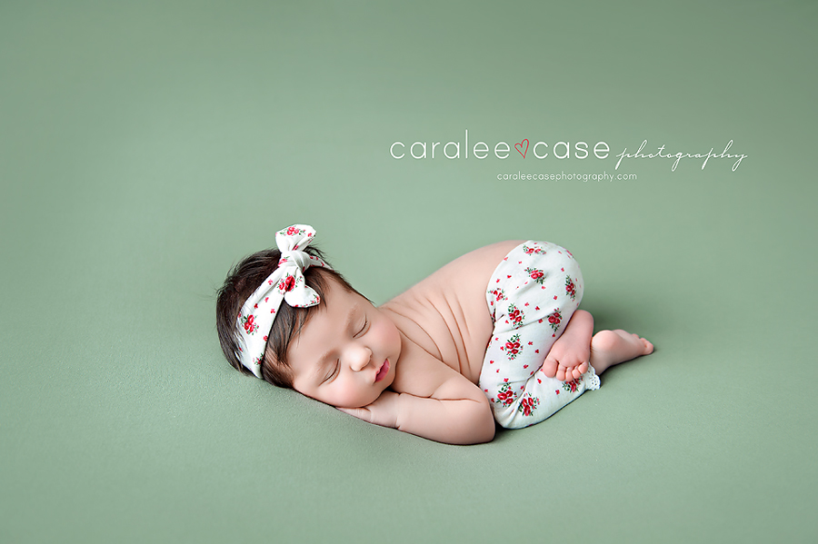 Rexburg Idaho Newborn Infant Baby Posing Studio Portrait Photographer ~ Caralee Case Photography