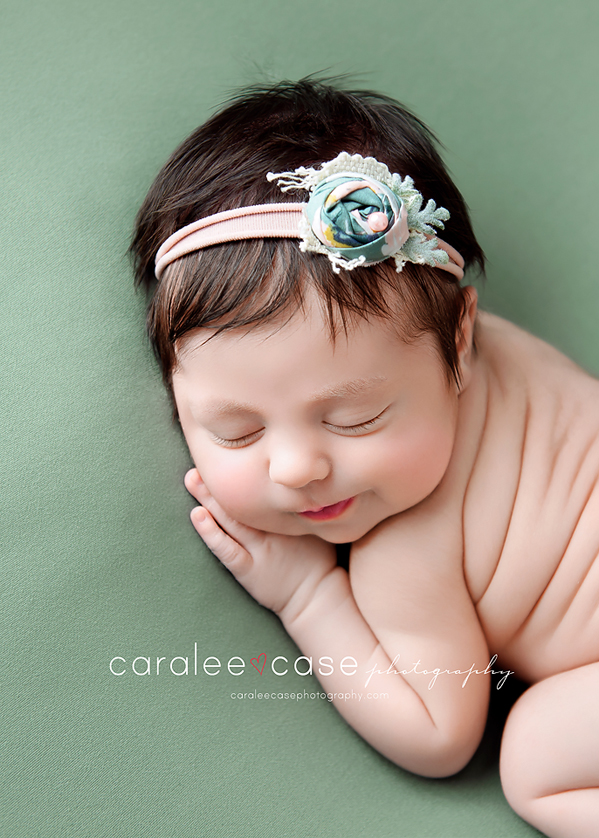 Idaho Falls, ID Newborn Infant Baby Posing Studio Portrait Photographer ~ Caralee Case Photography