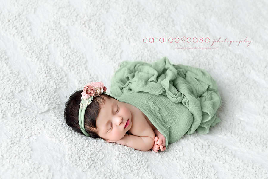 Ammon Idaho Newborn Infant Baby Posing Studio Portrait Photographer ~ Caralee Case Photography